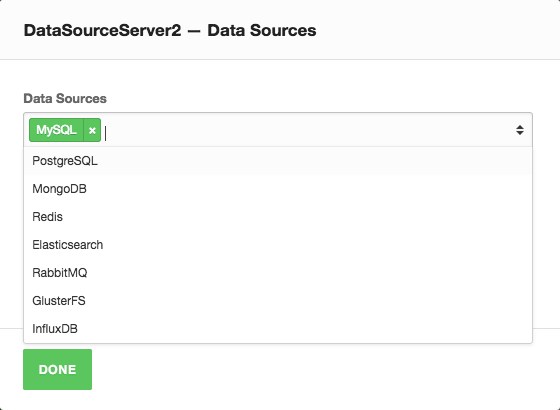 Adding a MySQL datasource to a stck