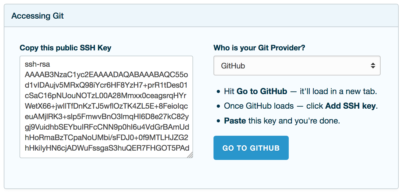 Adding your Public Key to GitHub